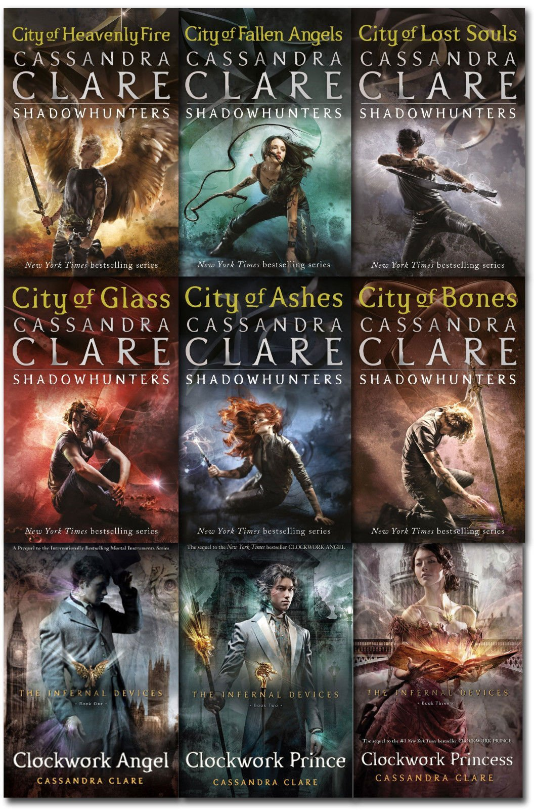 Cassandra Clare Mortal Instruments & Infernal Devices Collection 9 Books  Set Pack: Amazon.co.uk: Cassandra Clare: 9783200330078: Books
