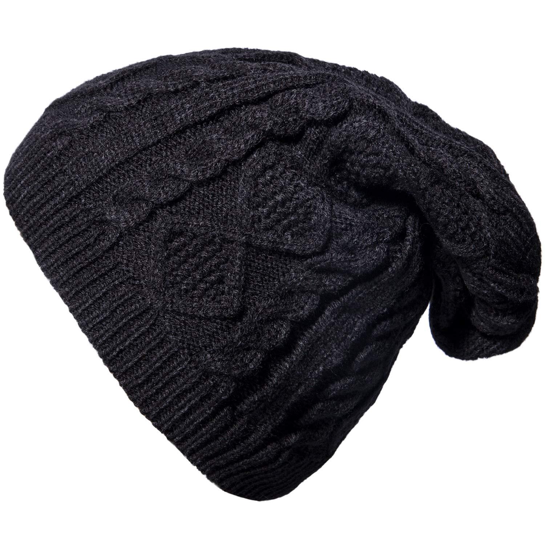 096159436de ... Loritta Women Winter Knit Hats Baggy Slouchy Thick Cable Cap Beanie Hat  ACS-136-