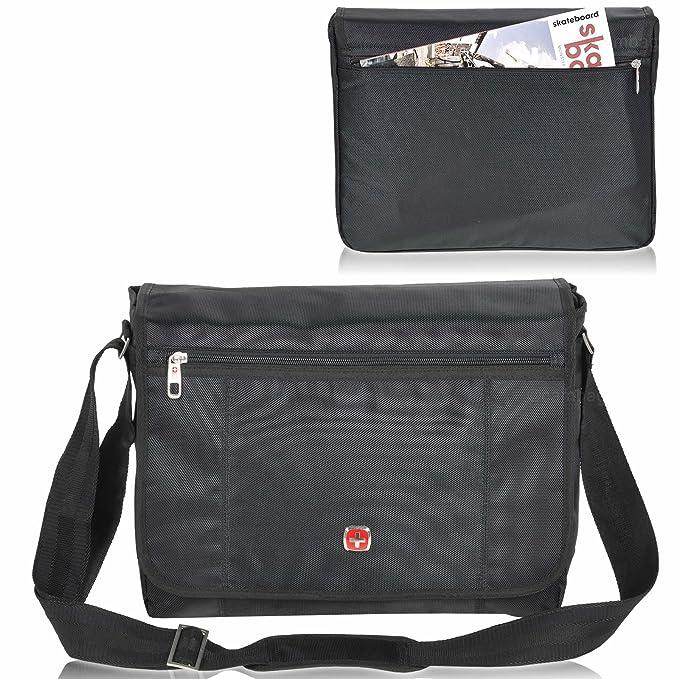 Lugano Business Flap Messenger Laptop Bag: Amazon.de: Koffer, Rucksäcke &  Taschen