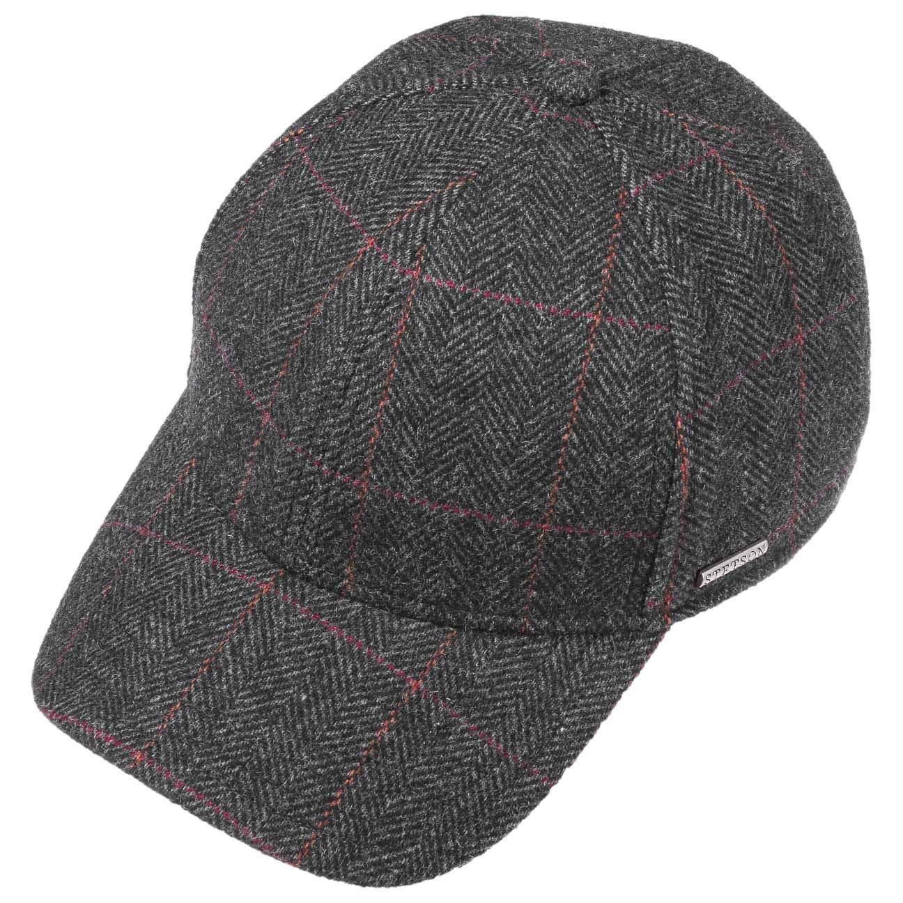Stetson Cappellino con Paraorecchie Kinty Uomo Fodera Autunno//Inverno Baseball cap Cappello Invernale da Chiuso Dietro Visiera paraorecchie