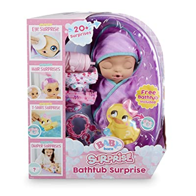 Baby Born Surprise Bathtub Surprise Purple Swaddle Princess: Toys & Games