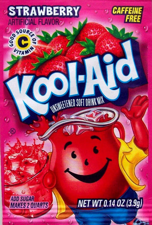 10 Strawberry Kool-Aid Packs