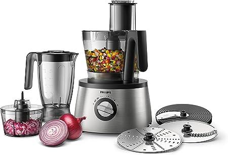 Philips Robot de cocina, 4 en 1, diseño hr7780/00, 3.4 L, 1300 W, acero inoxidable): Amazon.es: Hogar