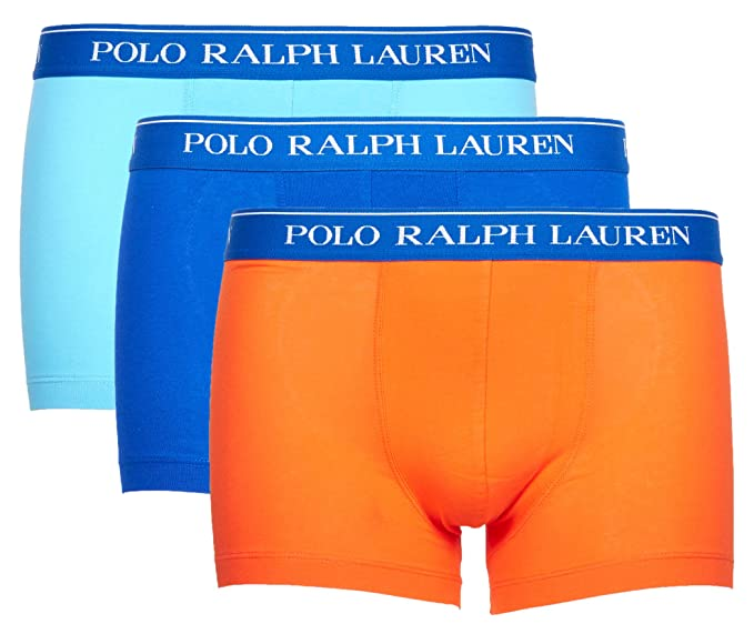 Polo Ralph Lauren Homme Boxers Tronc Paquet de 3 - Coton, Multicolores (X- eeecd63a0edc