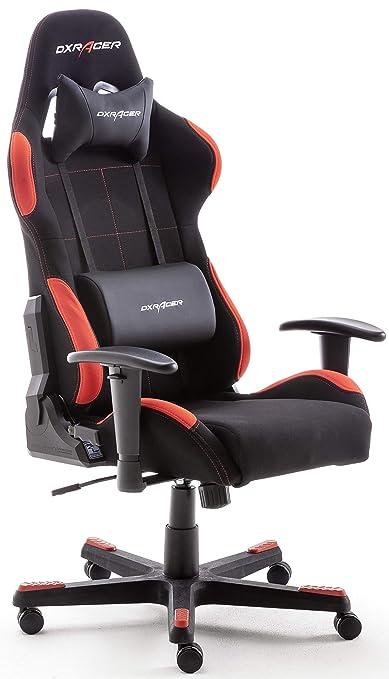 Gaming DX Racer1 134 52x ufficio da scrivania chair x gioco Lund da sedia sedia sedia Robas da nerorosso 124 cmmetalloaltezza regolabile 78 vmNn0w8