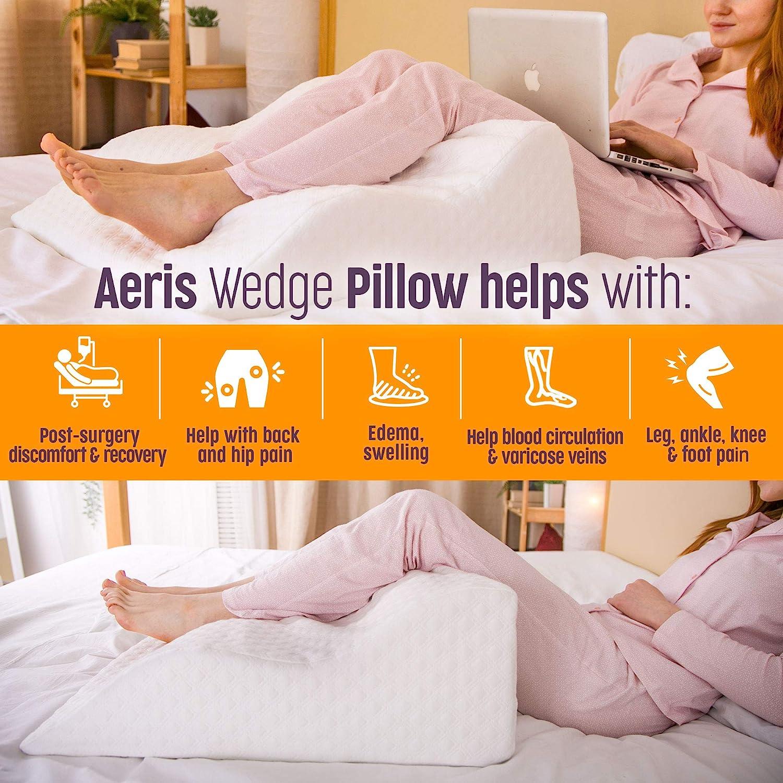 AERIS Bed Wedge Pillow –%100 Memory