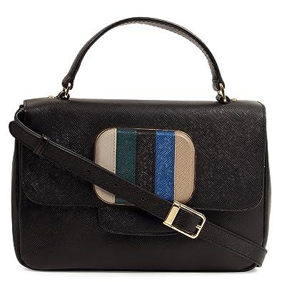 b5116de58 Da Milano Women s Handbag (Black)  Amazon.in  Shoes   Handbags