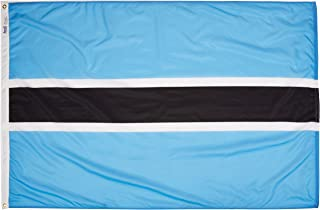 product image for Annin Flagmakers Model 190754 Botswana Flag Nylon SolarGuard NYL-Glo, 4x6 ft, 100% Made in USA to Official United Nations Design Specifications