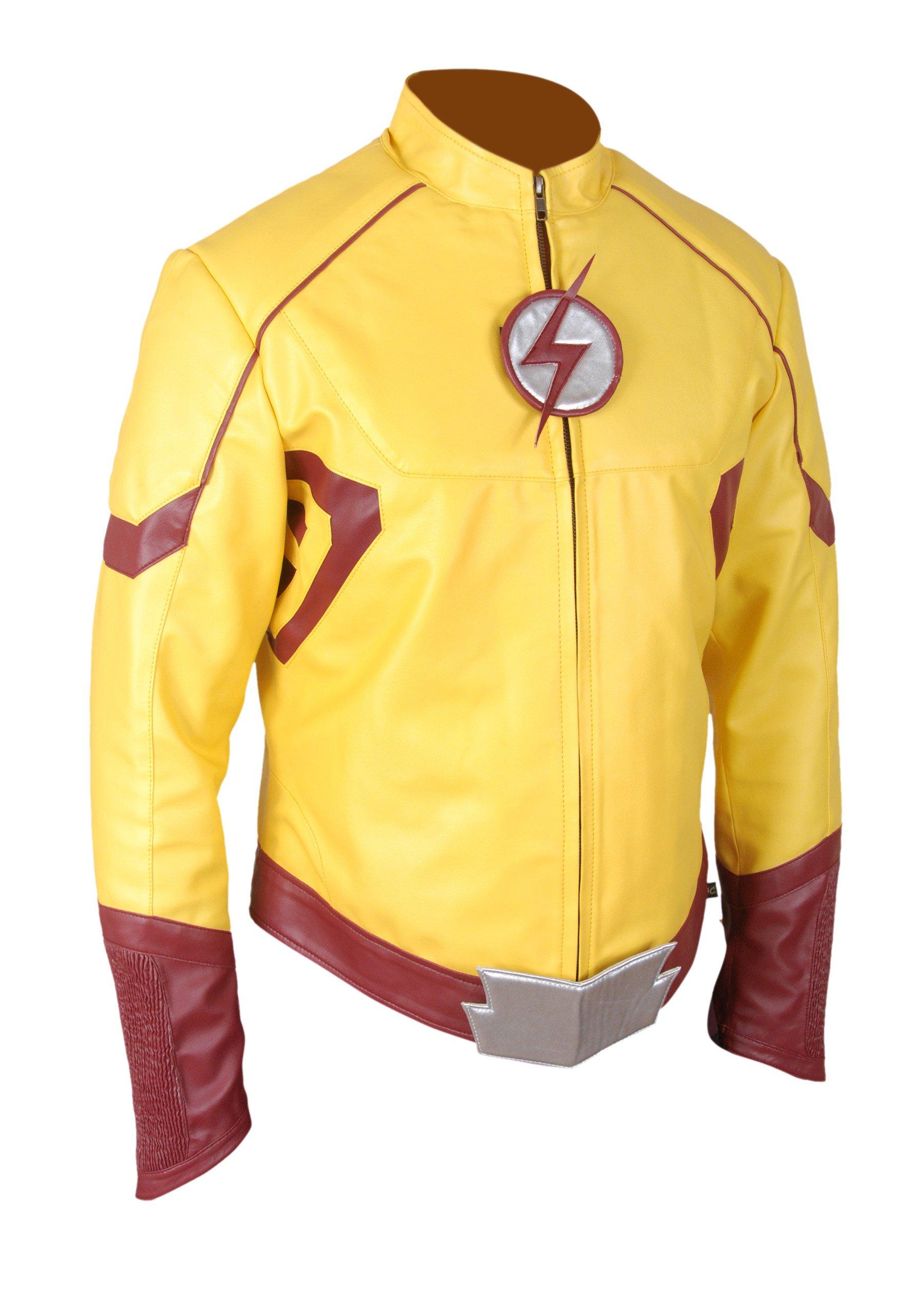 F&H Boy's Kid Flash Wally West Keiynan Lonsdale Flash Season 3 Jacket XL Multi by Flesh & Hide