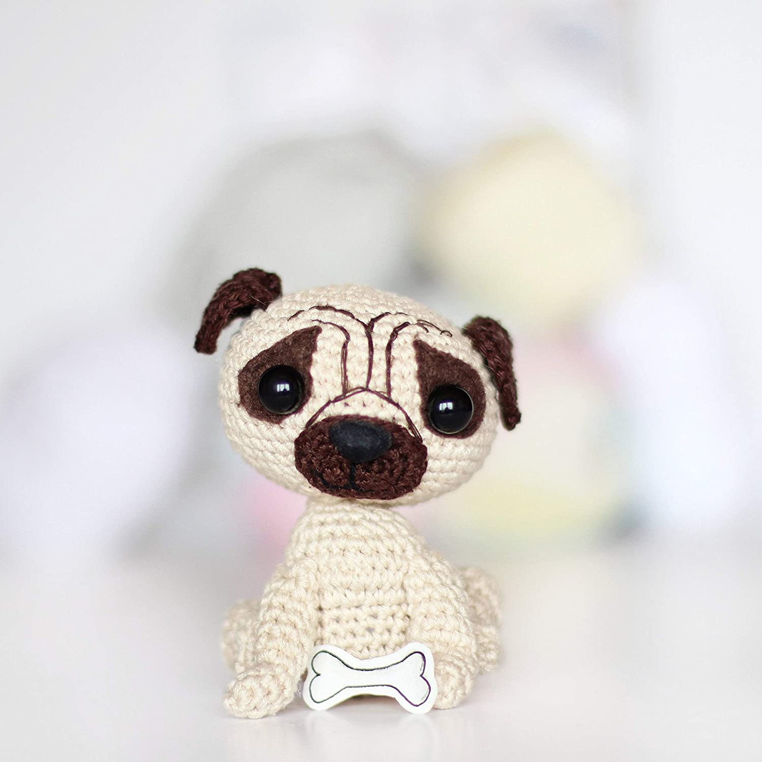 Pug Puppy Amigurumi Pattern (Crochet Pattern Books) (English ... | 1500x1500