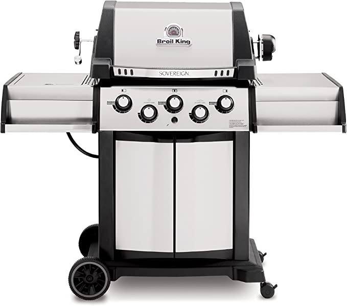 Broil King 987847 Sovereign 90 Natural Gas Grill with Side Burner and Rear Rotisserie