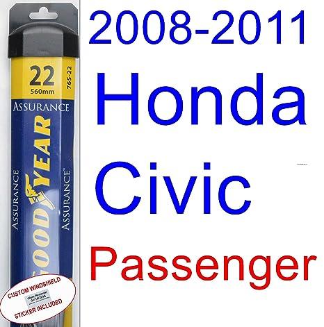 2008 – 2011 Honda Civic Coupe Repuesto limpiaparabrisas Set/Kit (Goodyear limpiaparabrisas blades-