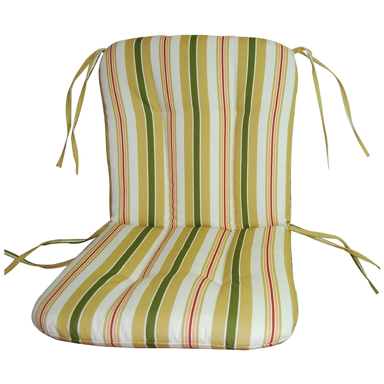 Amazon.com : Wrought Iron Chair Cushion Alex Stripe Gold : Patio Furniture  Cushions : Garden U0026 Outdoor