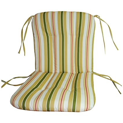 Wrought Iron Chair Cushion Alex Stripe Gold