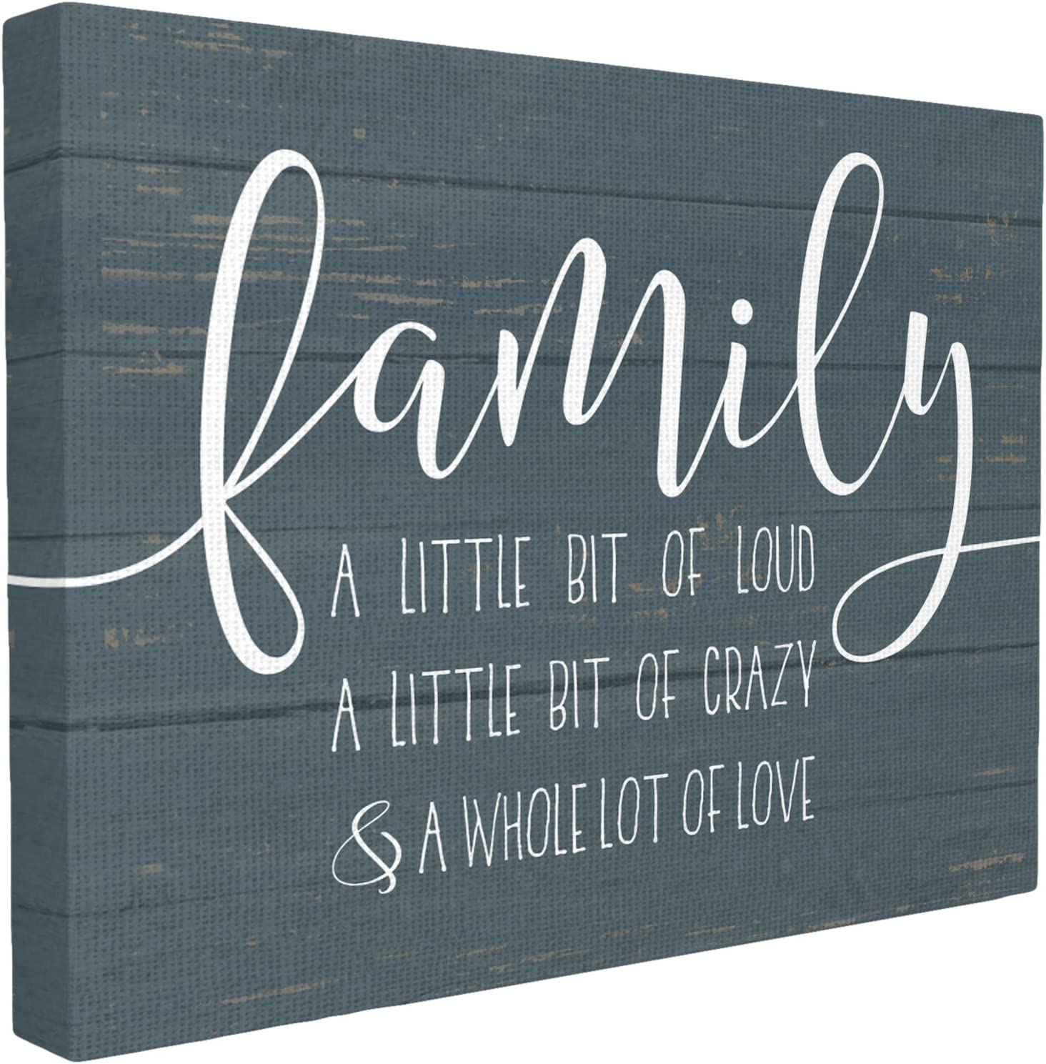 The Stupell Home Decor Collection Family Loud Crazy Love Stretched Canvas Wall Art, 16 x 20, Multi-Color