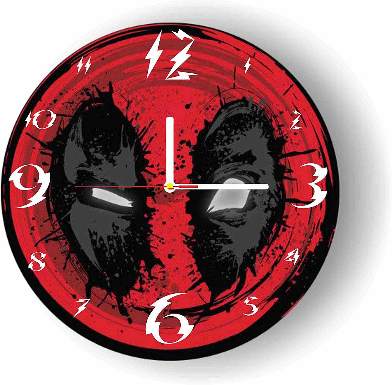 Original Handmade Wall Clock Deadpool 11.8 Get Unique décor for Home or Office – Best Gift Ideas for Kids, Friends, Parents and Your Soul Mates