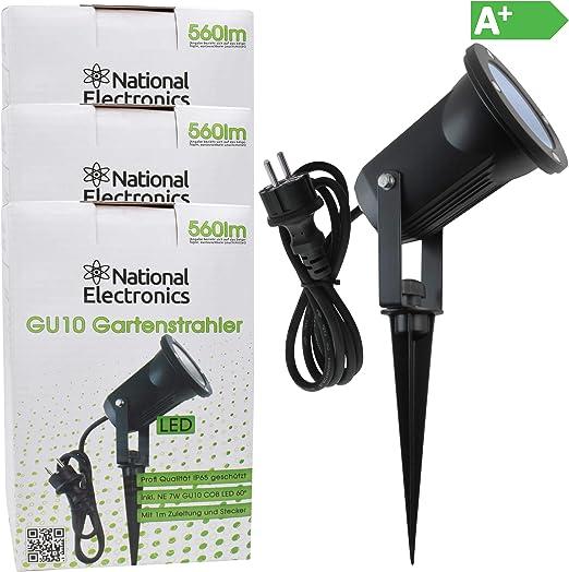 3x National Electronics jardín GU10 focos LED incl National ...