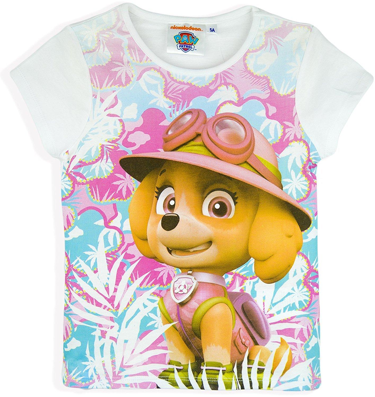 Paw Patrol Nickelodeon Girls Summer T-Shirts (White, 4 Years)