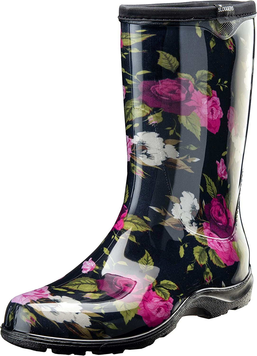 Sloggers Women's Waterproof Rain and Garden Boot with Comfort Insole (10, Roses)