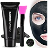 Black Mask Charcoal Mask Peel Off Mask Blackhead Remover Mask , Deep Pore Cleansing Mask with Mask Brush 100 grm