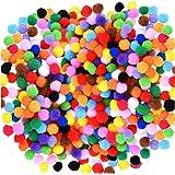 Acerich SKU-024-1 2000 Pcs 1cm Assorted Pompoms Multicolor Arts and Crafts Fuzzy Poms Balls for Diy Creative Decorations