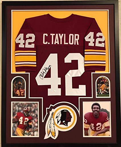 FRAMED CHARLEY TAYLOR AUTOGRAPHED SIGNED INSC WASHINGTON REDSKINS JERSEY JSA  COA at Amazon s Sports Collectibles Store 914d077fc