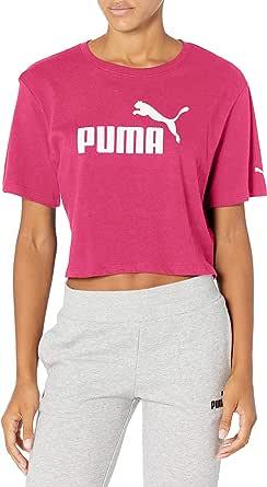 PUMA Women's Plus Size Essentials+ Cropped Logo TEE