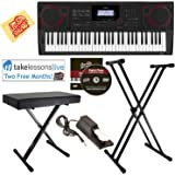 Casio CT-X3000 Keyboard Bundle with Adjustable Stand, Bench, Sustain Pedal, Online