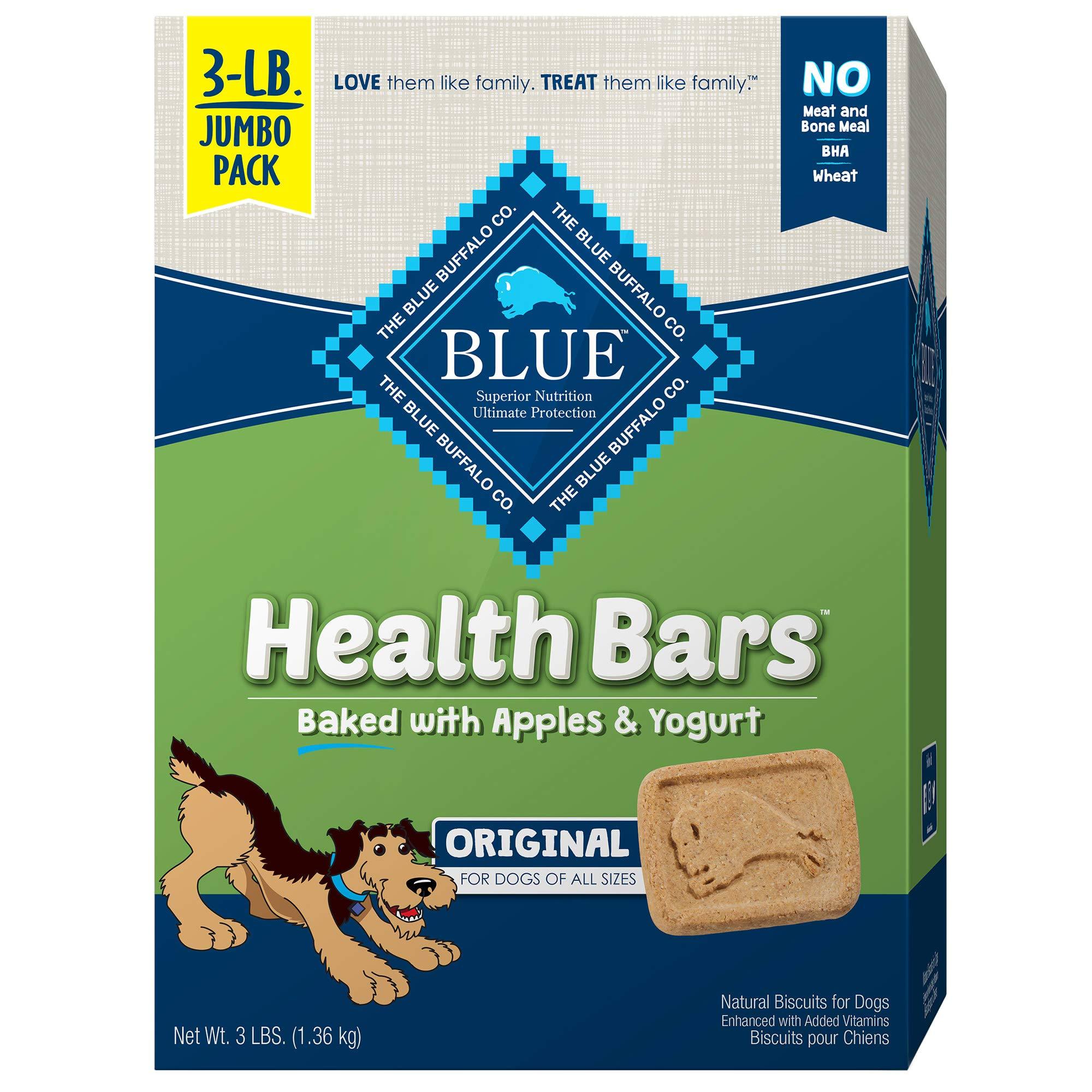 Blue Buffalo Health Bars Natural Crunchy Dog Treats Biscuits