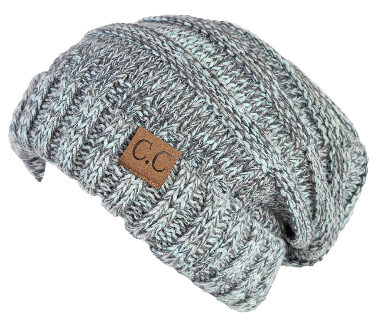 H-6100-6254 Oversized Slouchy Beanie - Hint of Mint