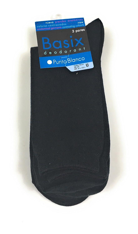 Punto Blanco - Pack Ahorro x3 Calcetines BASIX Hombre: Amazon.es: Ropa y accesorios