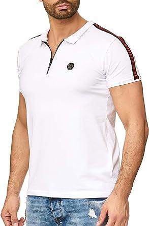 Redbridge Hombres Manga Corta Camisa Polo T-Shirt de Rayas ...