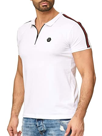 Redbridge Hombres Manga Corta Camisa Polo T-Shirt de Rayas Básico ...