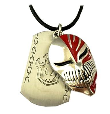 Bleach Punk Anime Bleach Half Face Skull Mask Logo Bracelets ...