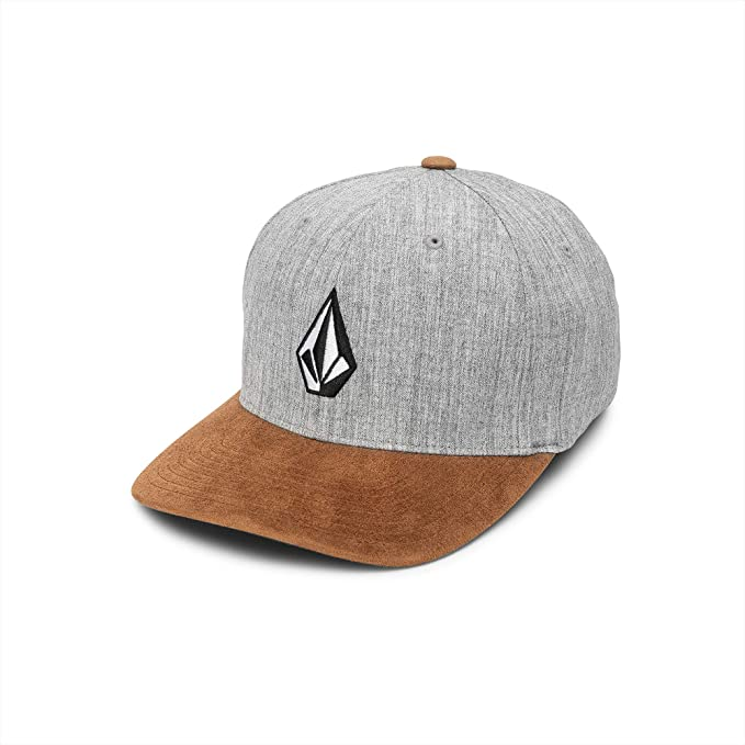 Volcom Racing Mens Full Stone Flexfit Hat Rustic Brown Gray LXL ...