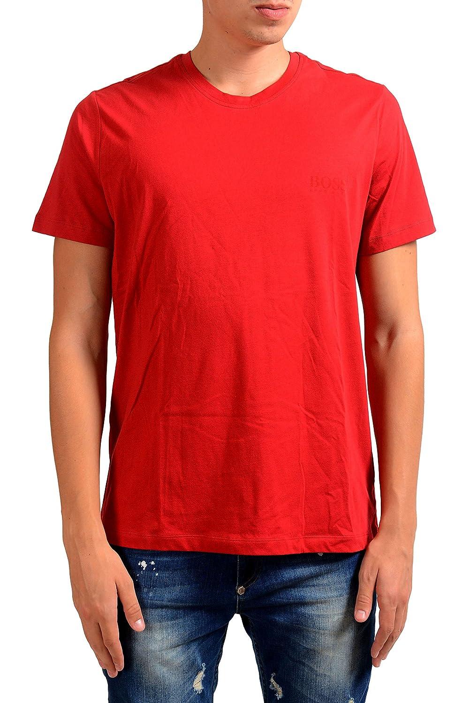 Hugo Boss T-ShirtEN24 Mens Red Crewneck T-Shirt US M IT 50
