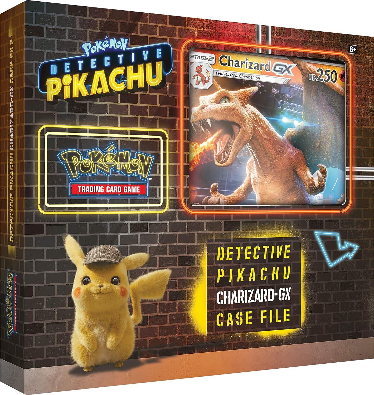 Amazon Com Pokemon Tcg Detective Pikachu Charizard Gx Case File Multicolor Genuine Cards Toys Games