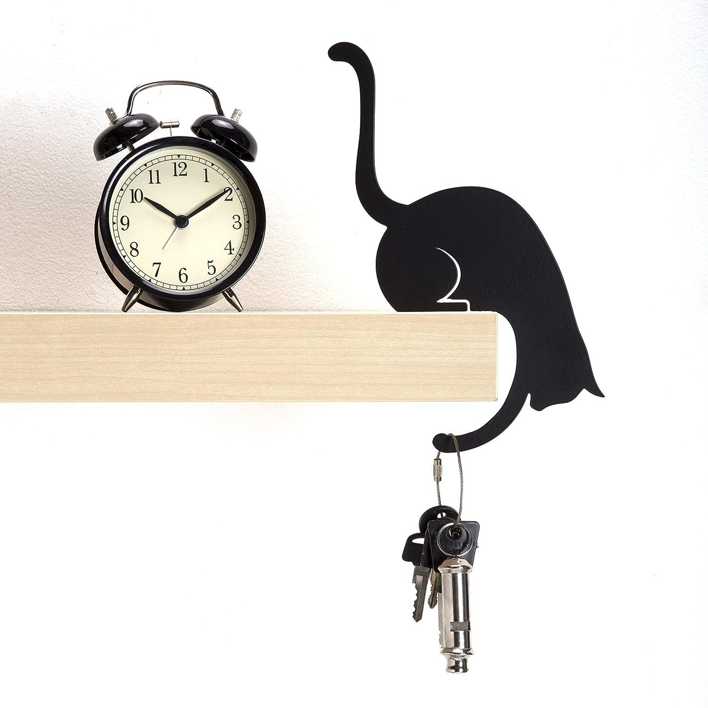 Amazon.com: ad273b – Louis Paw – Black Metal Cat decorativo ...