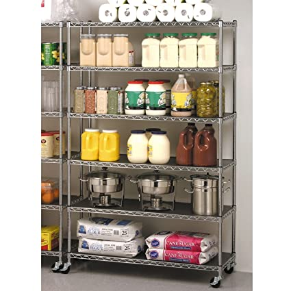 Seville Classics Commercial Industrial Storage Shelving   6 Levels