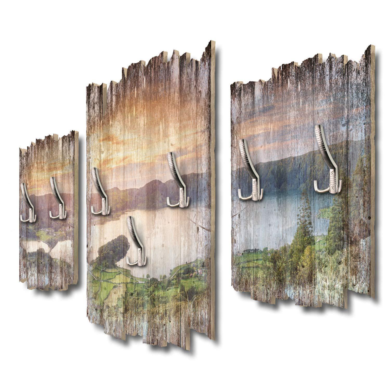 Kreative Feder Azorenpanorama Designer Wandgarderobe Flurgarderobe Wandpaneele 95 x 60 cm aus MDF DTGH043