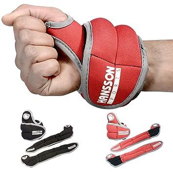 HANSSON.SPORTS Gewichtsmanschetten Laufgewichte f. Hand-Gelenke ...