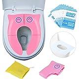 Riduttore WC per bambini Viaggia portatile Pieghevole Riutilizzabili sedile Potty Training Con: sedile del water usa e getta 10 PCS (Fan)