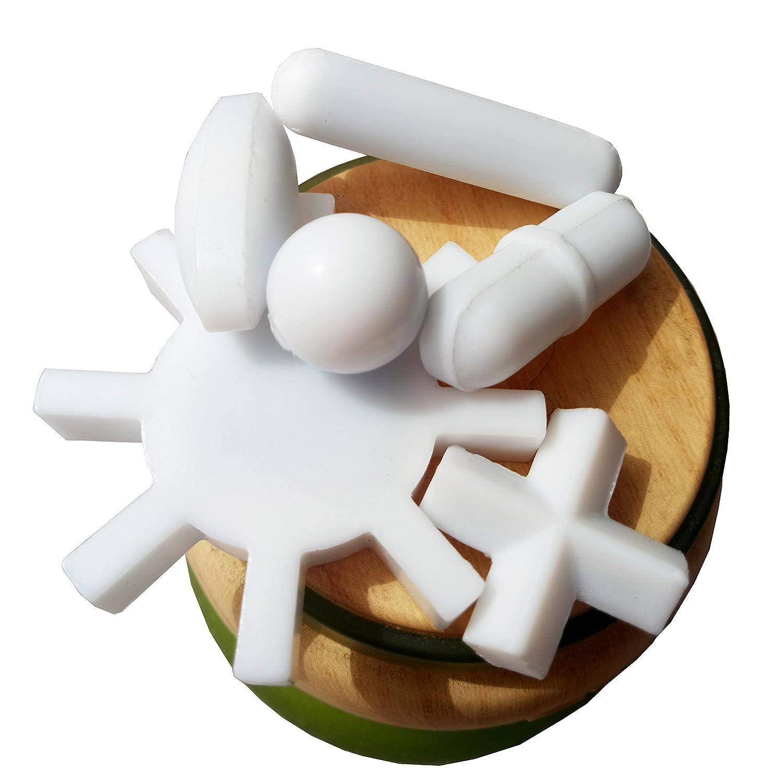 Magnetic Stirrer Stir Bars Mixer Stiring Rod : 6 Shapes + Magnetic Retriever