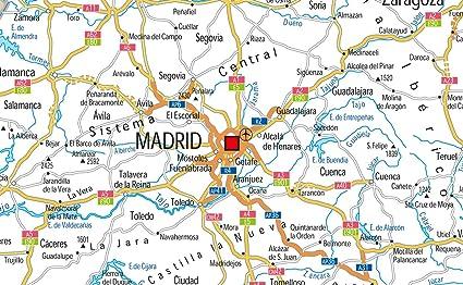 España carreteras mapa – Vinilo – 130 x 180 cm: Amazon.es: Oficina y papelería