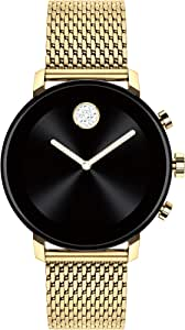 Movado Connect 2.0 Unisex Powered with Wear OS by Google Stainless Steel and Ionic Light Gold 2 Plated Steel Smartwatch, Color: Yellow (Model: 3660026)