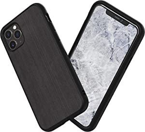 RhinoShield Case Compatible with [iPhone 11 Pro Max] | SolidSuit - Shock Absorbent Slim Design Protective Cover with Premium Matte Finish 3.5M / 11ft Drop Protection - Brushed Steel Finish - Black