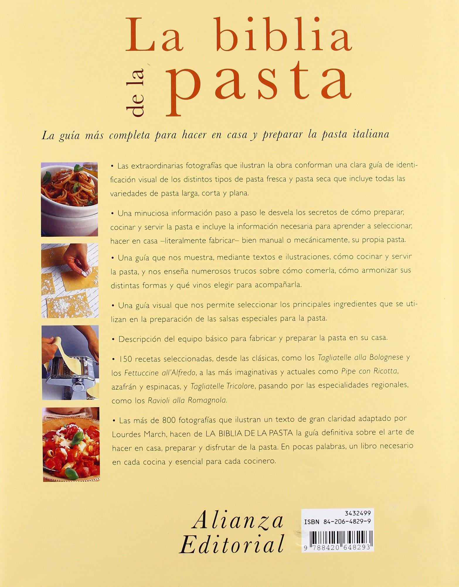 La biblia de la pasta / The Pasta Bible (Spanish Edition): Jeni Wright: 9788420648293: Amazon.com: Books