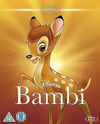 Bambi 1942 Limited Edition Artwork Sleeve Blu Ray Region Free Amazon Co Uk Dvd Blu Ray