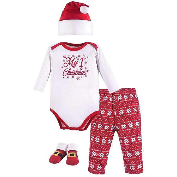 11f1142607d7 Amazon.com  Hudson Baby Holiday Clothing Gift Set