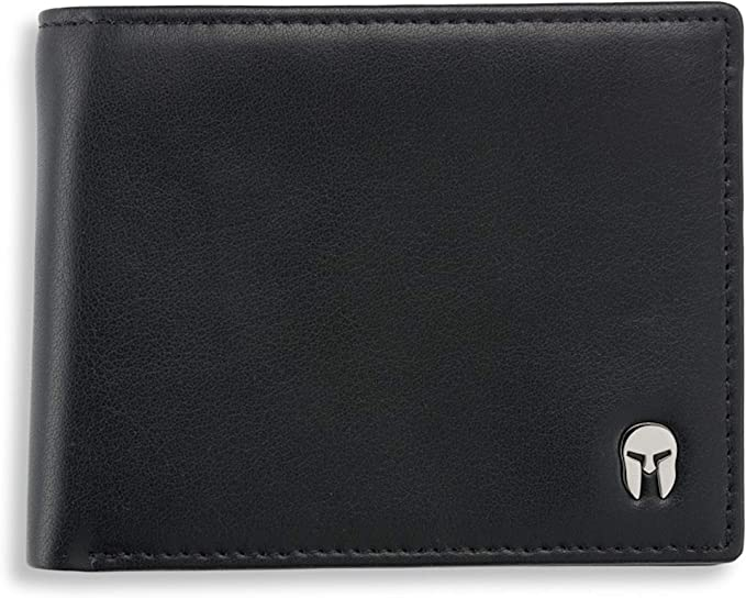 30 opinioni per SPARTANO Portafoglio da Uomo in Vera Pelle- con Protezione RFID, Portamonete, 7